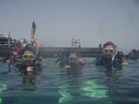 pupils school dive trip